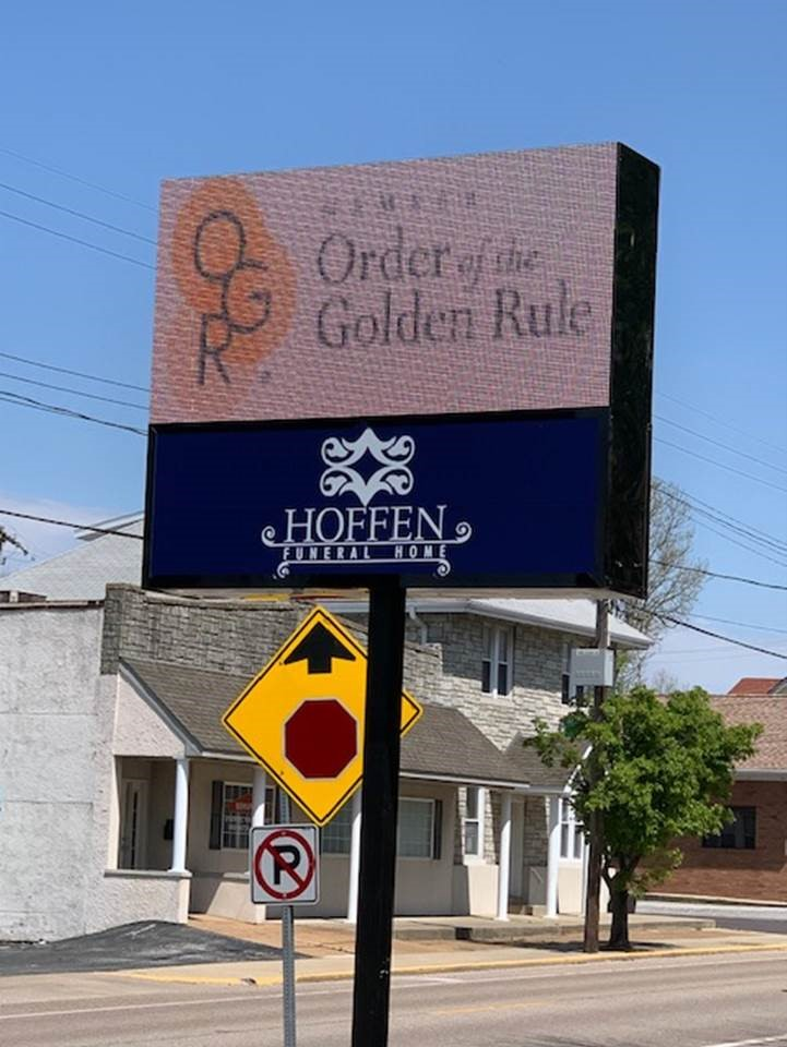 Hoffen Funeral Home - OGR marquee