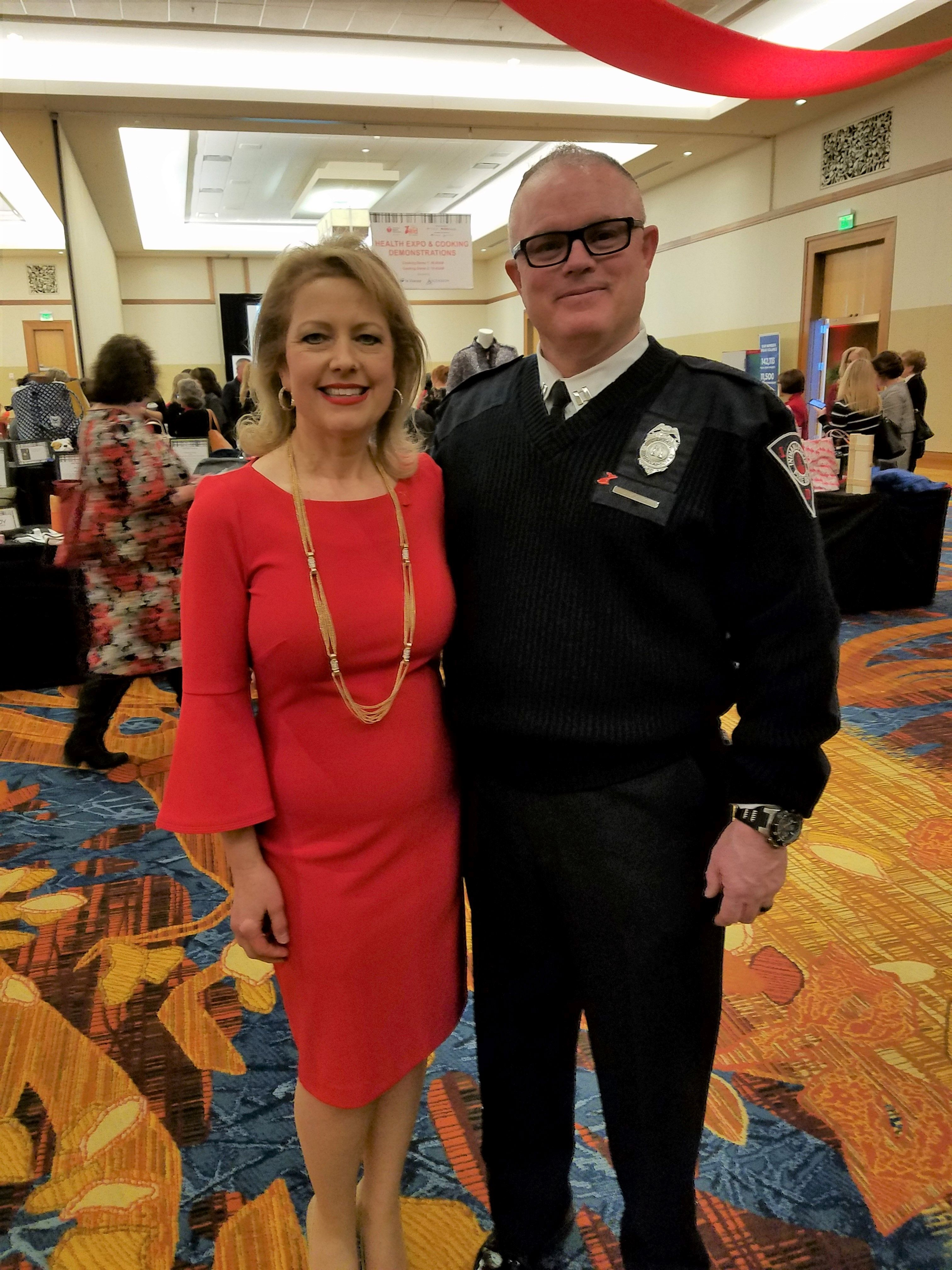 Wendy King, OGR's new executive director/CEO, stands next to her husband Jim at an American Heart Association
